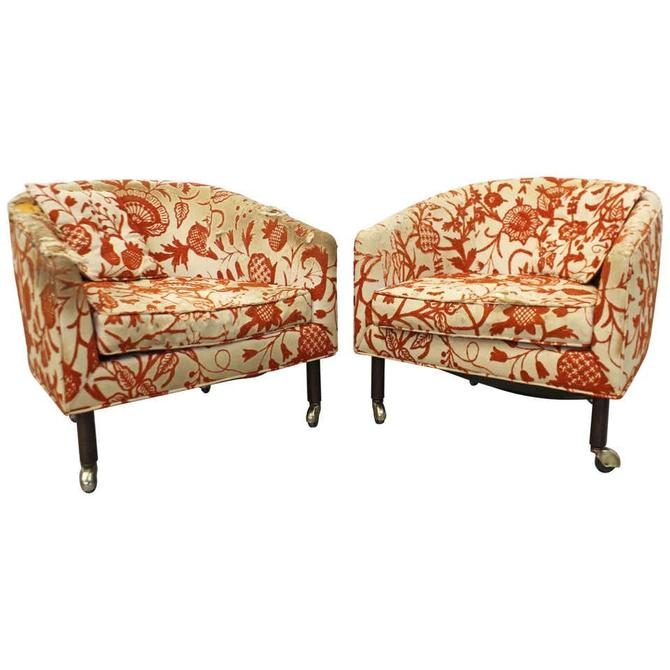 Pair of Mid-Century Danish Modern Harvey Probber Barrel Back Lounge Chairs by AnnexMarketplace