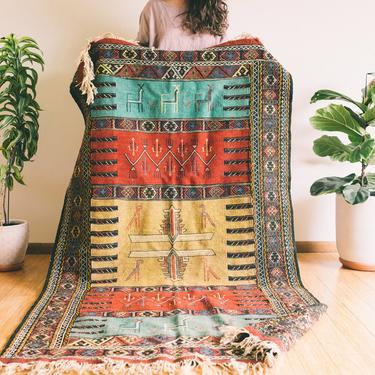 Rana - Qashqai Tribal Wool woven Persian Kilim - Handmade (Free shipping to USA) by KaashiFurniture