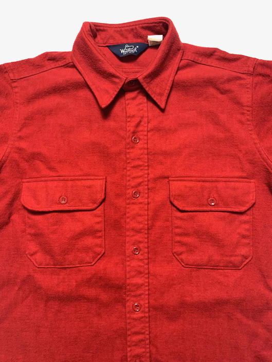 Vintage WOOLRICH 100% Cotton Chamois Shirt ~ L ~ Work Wear / Hunting ~ Flannel ~ Made in USA by SparrowsAndWolves