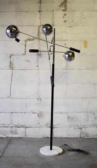 Pair of Mid Century MODERN SONNEMAN Adjustable FLOOR LAMPs by CIRCA60