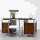 1930's Bauhaus Chrome and Walnut Desk