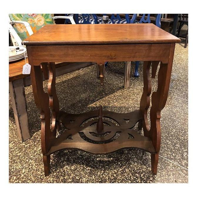 """1920's style accent table w/ a drawer 24.5"""" w x 16.5"""" d x 29"""" H"""