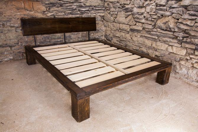 The Lakeside - Modern Platform Bed from Reclaimed Wood by StrongOaksWoodshop