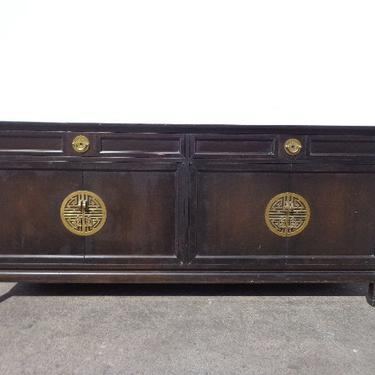 Asian Cabinet Buffet Dresser Furniture Chinoiserie Sideboard Chest Console Brass Table Chinese Carved Wood Campaign Boho CUSTOM PAINT AVAIL by DejaVuDecors