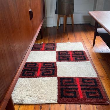 Mid century area rug Scandinavian rya rug mid century modern rug by VintaDelphia