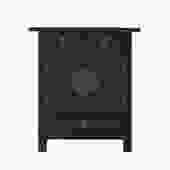 Black Lacquer Moonface End Table Nightstand Cabinet cs5358S