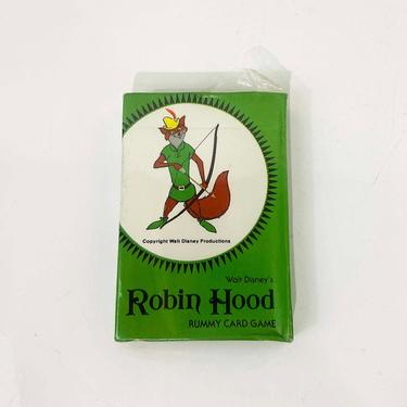 True Vintage Robin Hood Playing Cards Rummy Card Deck Ephemera Laff and Learn Walt Disney 1960s 1970s Collectible Collectibles NOS Deadstock by CheckEngineVintage