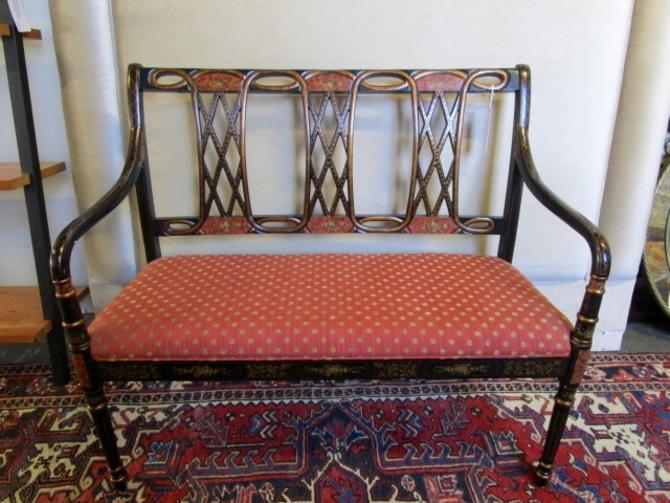 ITALIAN PAINTED BENCH/SETTEE