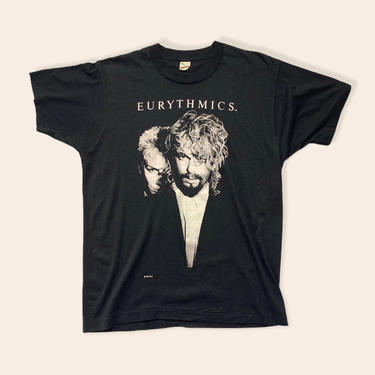 Vintage 1986 EURTHYMICS Band T-Shirt ~ fits M ~ 1980s / 80s ~ Concert / Tour / Album Tee ~ Screen Stars ~ Soft Thin by SparrowsAndWolves