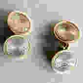 Antique Krementz Silver and Gold Overlay Chain Cufflinks by LegendaryBeast