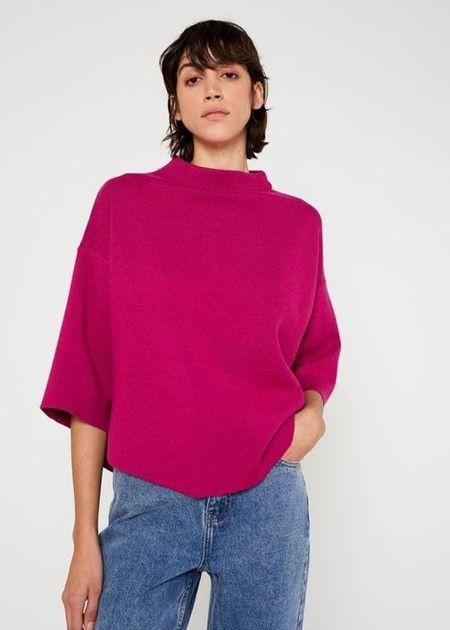 Wild Pony - Flared Cape Sweater - Pink