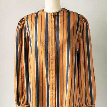 1980s Blouse Christian Dior Button Up M by dejavintageboutique