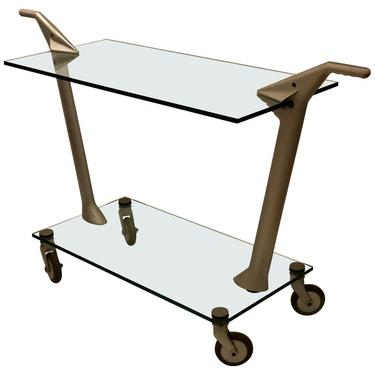 Postmodern Memphis Style Bar Cart by Fontana Arte