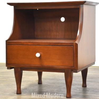 Kipp Stewart Style Walnut Nightstand by mixedmodern1