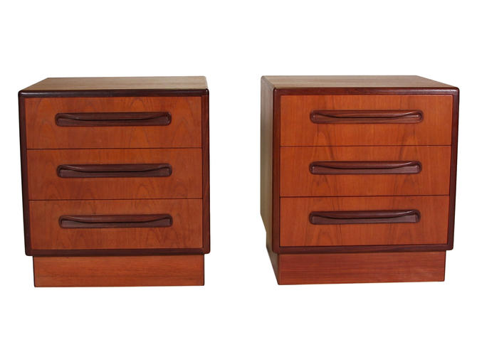 Mid Century Teak Night Stands By G Plan  On Hold for Staging by RetroPassion21