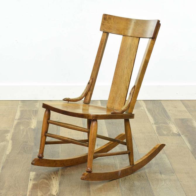 Antique Low Profile Nursing Rocking Chair