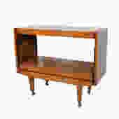 Teak  Bar Cart Rolling Tea Cart Mid Century Modern by HearthsideHome