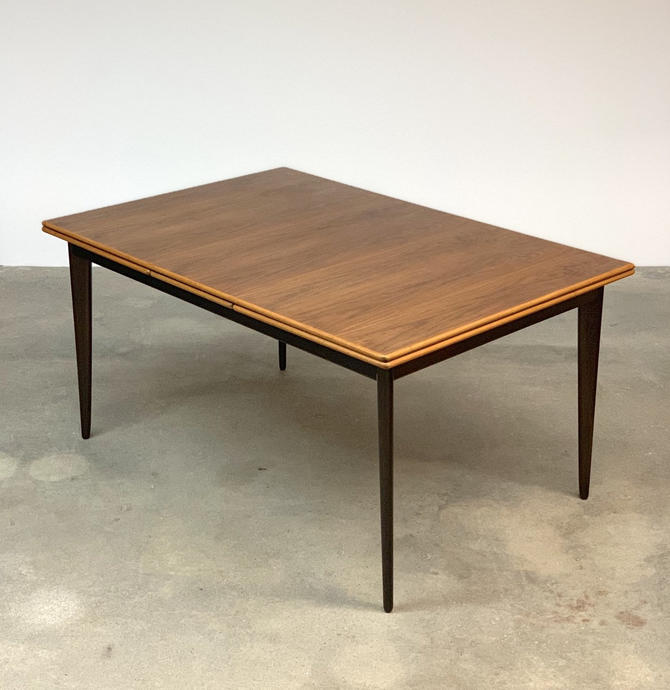 Mid Century Swedish Expanding Walnut Dining Table by DUX by midcenTree
