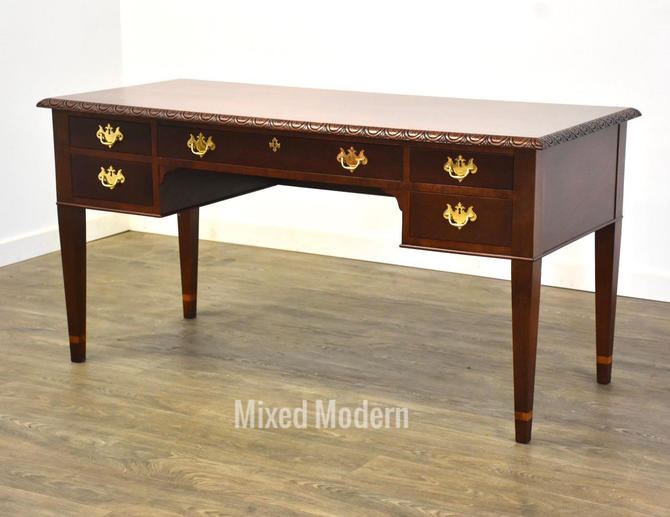 Historic Charleston Collection Mahogany Writing Desk by Baker by mixedmodern1
