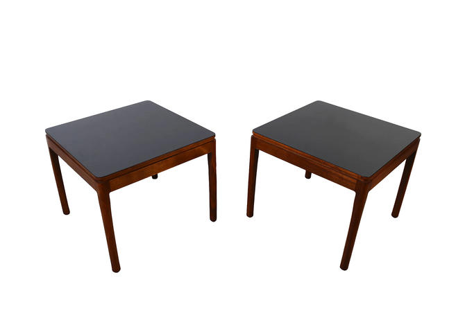 Walnut Side Tables Drexel Declaration  Mid Century Modern by HearthsideHome