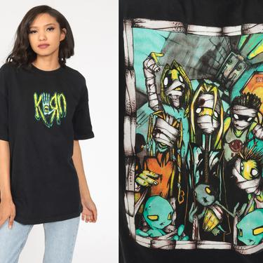 Vintage Korn Shirt Y2K Tour Tshirt 00s Band T Shirt Metal Concert Tshirt Tour Tshirt Rock Promo Shirts Extra Large xl by ShopExile
