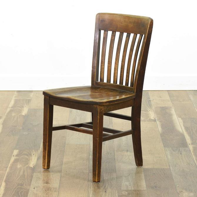 Warren Antique Power Plant Slat Chair