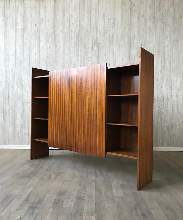 Mid Century Walnut and Rosewood Cabinet by Lane