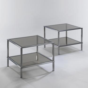 Étienne Fermigier Pair of Side Tables