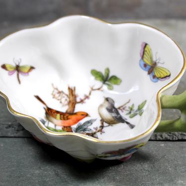 Herend Rothschild Birds & Butterflies Condiment Bowl - Hungarian Fine Porcelain - Gorgeous Holiday Table - Hand Painted | FREE SHIPPING by Bixley