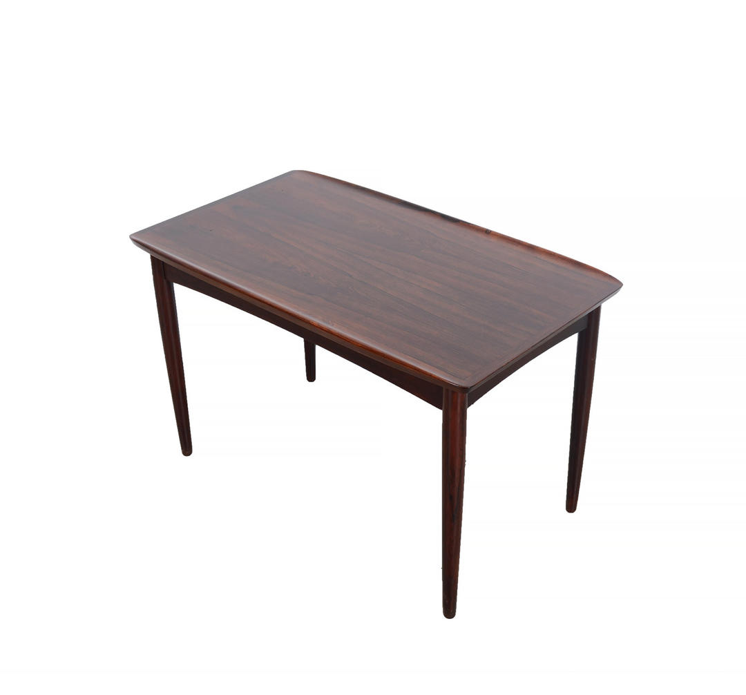 Danish Mid Century Modern Occasional Side Coffee Table Rosewood: Rosewood Side Table Mobelintarsia Cocktail Table Coffee