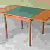 Poul Hundevad Danish Teak Game/Dining Table Reversible Felt Top