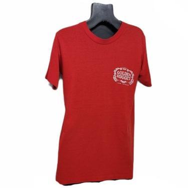 Vintage Golden Nugget Casino T-shirt, Single Stitch Graphic Tee, Las Vegas Nevada Souvenir Shirt, Vintage Gambling, Retro Vintage Clothing by AGoGoVintage