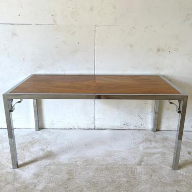 Mid-Century Rosewood and Chrome Writing Desk or Table by secondhandstory
