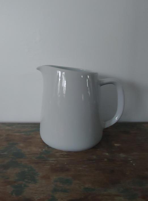 Vintage Scandinavian Modern Arabia Teema Off White Pitcher Vase Finland by ModandOzzie
