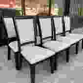 More the Merrier   Set of Eight Contemporary Hardwood Dining Chairs