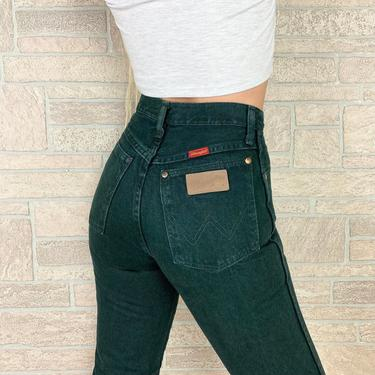 Wrangler Forest Green Western Jeans / Size 26 by NoteworthyGarments