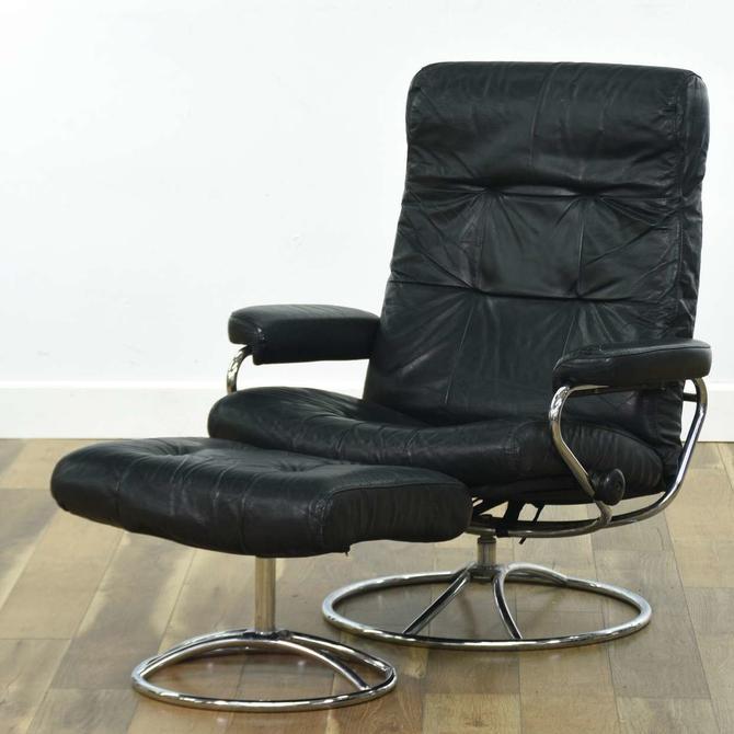 Ekornes Stressless Vintage Leather Lounger & Ottoman