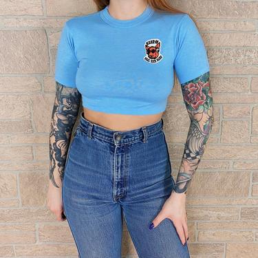 Vintage KSHE 95 Real Rock Radio Station Crop Top Shirt by NoteworthyGarments