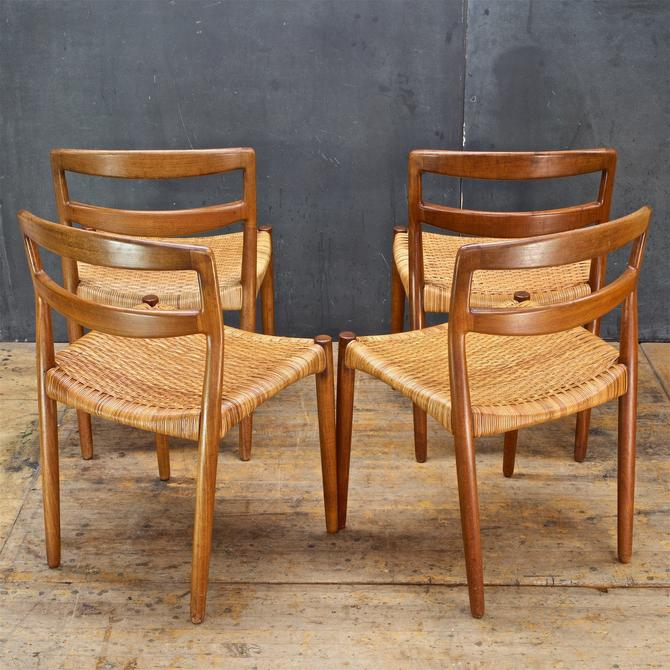 Prime Mid Century Danish Teak Cane Dining Chairs 1950S Scandinavian By Cabinmodernist Andrewgaddart Wooden Chair Designs For Living Room Andrewgaddartcom