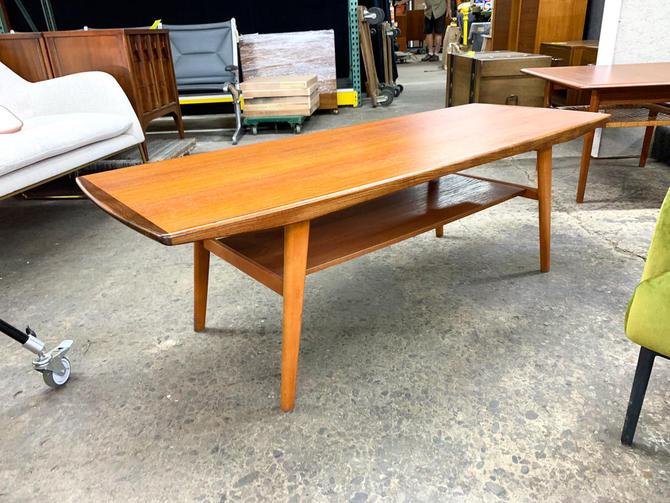 Danish teak bilevel coffee table