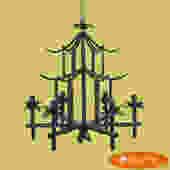Green Pagoda Chandelier