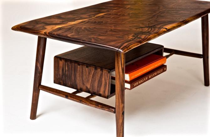 Mid Century Modern Walnut Coffee Table by BeautyBreadWoodshop