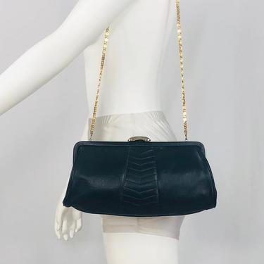 Vintage 1960s Markay Navy Blue Convertible Clutch by timelesspieces