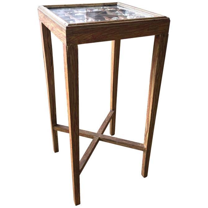 Vintage Indigo Seas Seashell Side Table by Michael Smith