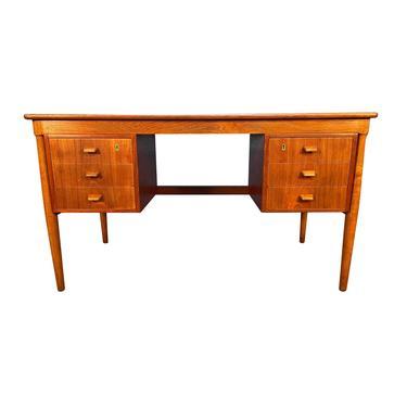 Vintage Danish Mid Century Modern Teak and Oak Writing Desk by AymerickModern