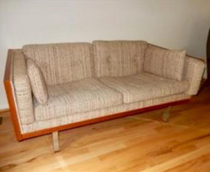 Danish Teak Jydsk Loveseat Settee Sofa Midcentury Modern Milo ...