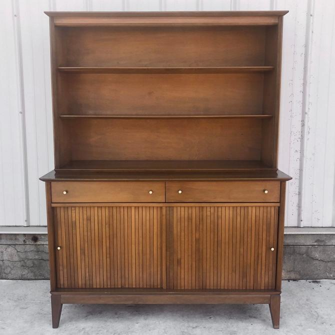 Mid-Century Credenza With Display Shelf by secondhandstory