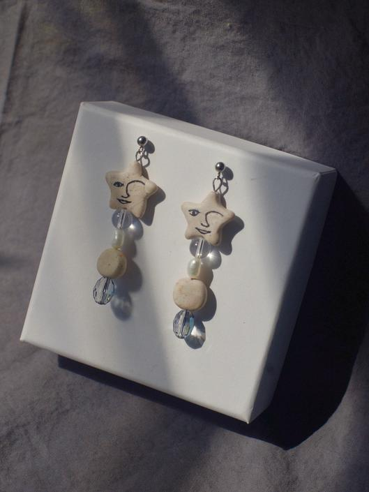 Funky Earrings / Graphic Earrings / Matisse Face / Statement Earrings / Gifts for Her / Modern Jewelry by theXENIASTUDIO