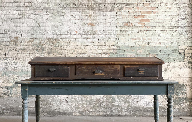 Antique Slant Top Checkout Hardware Store Counter by NorthGroveAntiques