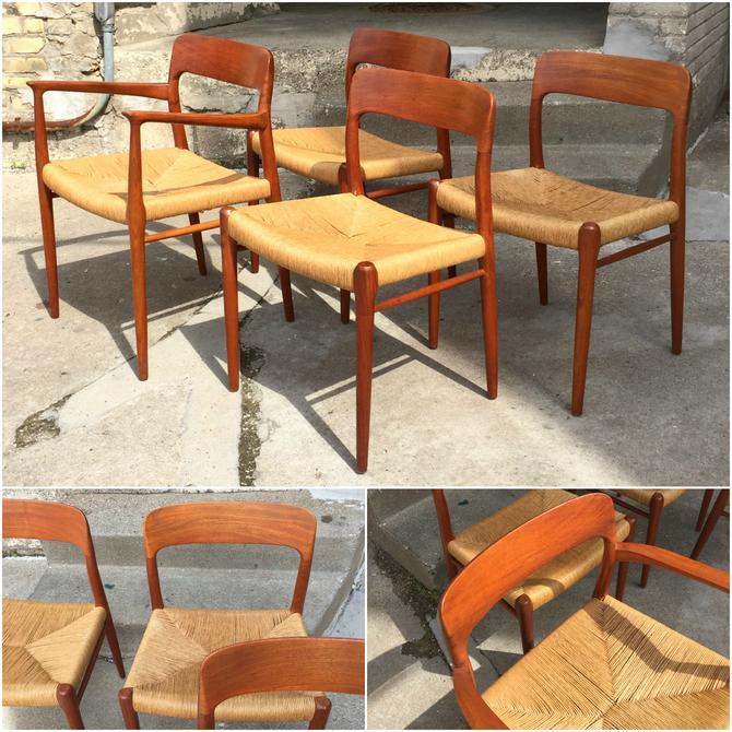 J.l. Moller Model 56/75 Teak Dining Chairs
